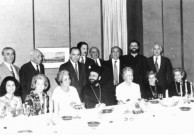 Nicholas Laurantus at a dinner to welcome the new Greek Archbishop, Stylianos in 1975.