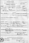 Marriage Certificate of Vrettos Alfieris & Marigo Theodorakakis (Cordato)