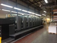 The massive Heidelberg printer, at the KWHF's Australian printers