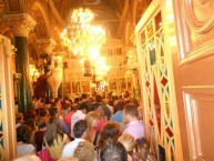 An absolutely packed out church for Panayia's, 2012.