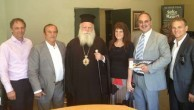 The Metropoliti of Kythera and Mayor Koukoulis with the Mageros family