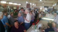 Some patrons also sat inside the Canberra Cafe