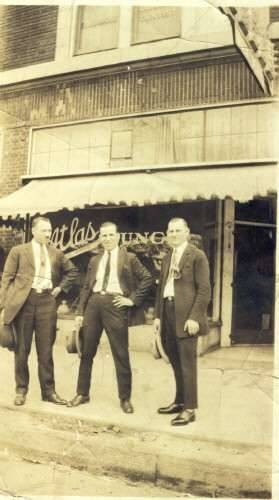 My Father and several friends,Atlas Cafe, Highland Park, Michigan