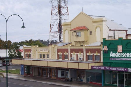Saraton Theatre, Grafton NSW. Another view from a high vantage point on the neighbouring railway bridge.