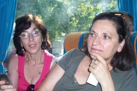 Helen Tzortzopoulos (nee, Diaocopoulos), (right), &