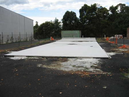The slab has been laid for Saint Haralambos Church, Tuggerah - IMG_0560