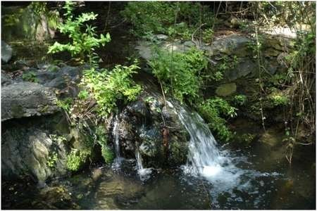 Environmental Archaeology and History in Northern Kythera: - Gregory A waterfall near the Portokalia spring