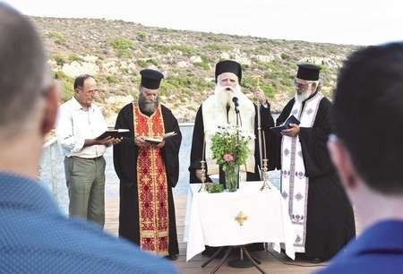 An ayiasmos (blessing) took place in July by Kythera's Metropoliti, Bishop Seraphim,