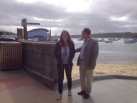 Mayor Theothori Koukoulis with daughter Maria, on the wharf at Doyles, at Watsons Bay
