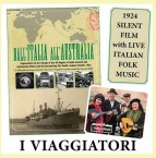 DVD cover, of the film Dall' Italia All' Australia with music by I Viaggiatori