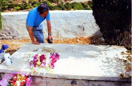 Sept 2008. (5) Toki Koizumi, the grandson of Lafcadio Hearn visits Kythera to pay homage to his grandparents. - Hearn001