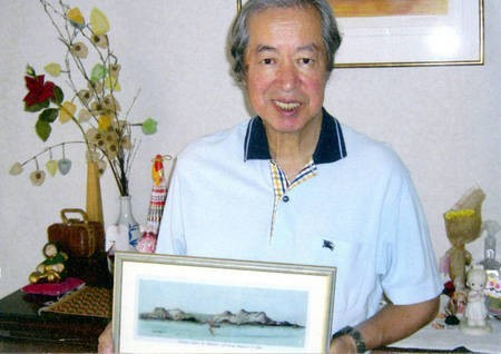 Sept 2008. (9) Toki Koizumi, the grandson of Lafcadio Hearn visits Kythera to pay homage to his grandparents. - Hearn005