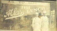 My Father and his cook at the Atlas Cafe, Detroit, Michigan