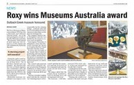 Roxy wins Museums Australia award