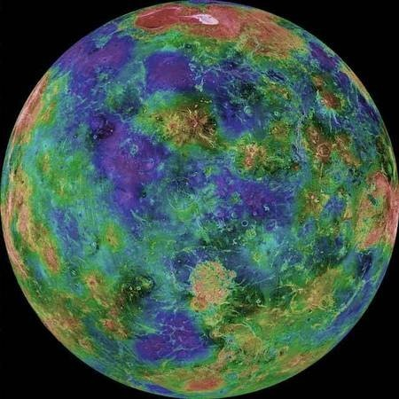 Venus - the PLANET - named after Kythera's goddess - Venus Hemispheric view