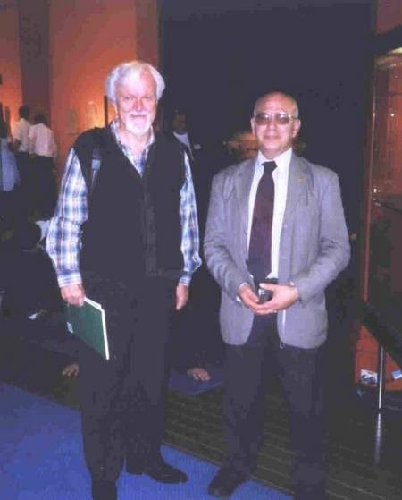 Professor Nikos Petrochilos, with Dr. Victor Kepreotis, President of the Kytherian Association of Australia.