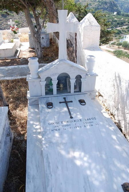 Antoniou Stathi Died 12 July 1998 Age 81 Family Plot