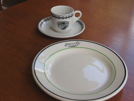 Crockery from Peters & Co café in Kyogle