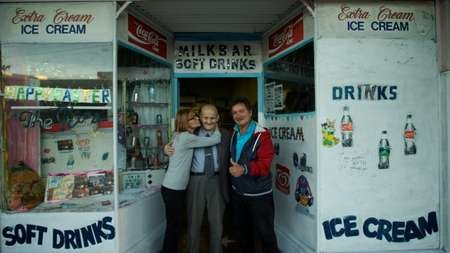 Farewell to George Poulos, the man who made milkshakes in Summer Hill for 63 years - George Poulos with daughter Aphrodite