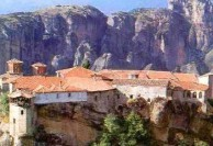 Monastery of St. Stephen. Meteora. Repository of the the remains of Ayios Haralambos.