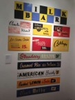 An impressive array of colourful cafe signage