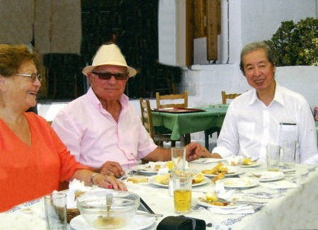 Sept 2008. (6) Toki Koizumi, the grandson of Lafcadio Hearn visits Kythera to pay homage to his grandparents.