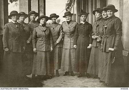 South-Australian Nurses just before leaving for the Salonika campaign
