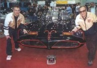 Nick Gavriles and George Barris with the original Batmobile