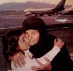Grandmother being farewelled at Athens airport. 1976...