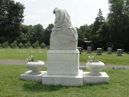 Cavacos monument created by Emmanuel Cavacos, in the Greek section of a Cemetery in Baltimore