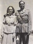 Reg Saunders with wife Dorothy