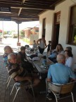 Belrose Rotarians enjoying a meal together at the Imperial Hotel, Bingara