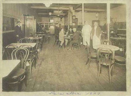Costas (Constantine) Aronis' cafeneon in New Bedford, MA