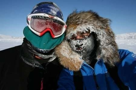 James Castrission and Justin Jones. Its bitterly cold in Antarctica