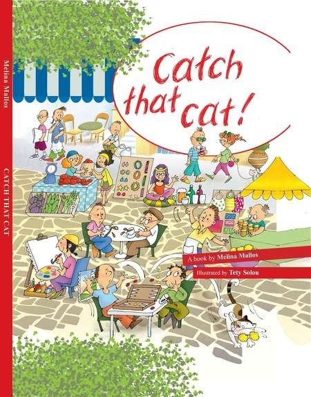 Catch that Cat. Book Cover. English Edition.