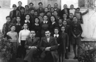Peter Levounis at the class at Astiko in 1945.