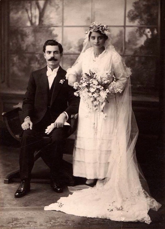 Marriage of Theodoros Tzortzopoulos and Erini Masselos 100 years ago 22/11/1916