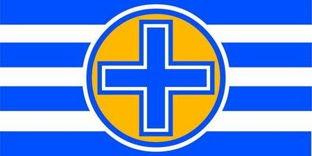 Proposed Flag for Kythera. Proposal 1. Proposal utilising one of (wo)mankind's most ancient, primal and powerful symbols. - Kythera Flag 1