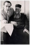 Peter Crithary with his father.