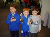 Soccer stars of the future. Peter Stevens, William Lynch, and Peter Parras.