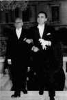 George Levounis with son Peter, at Peter's wedding.