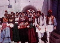 Senior pupils from Kythera's high school in national dress. 1976.