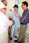 Sept 2008. (2) Toki Koizumi, the grandson of Lafcadio Hearn visits Kythera to pay homage to his grandparents.