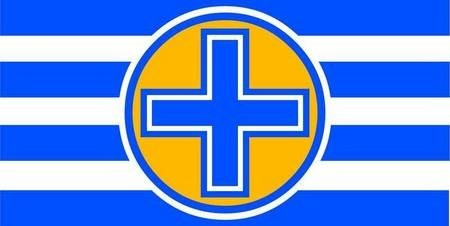 A Flag for Kythera. Proposal 2. Proposal utilising one of (wo)mankind's most ancient, primal and powerful symbols.