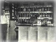 Woodburn, NSW - Kytherian store owner near the front counter of his store, circa 1922/23.