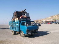 Fully laden truck with metal collected from Kythera for re-cycling.