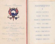 Part of the programme of he Metropolitan Younger Set Ball and Mannequin Parade, 1941