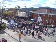 The Orange Festival Parade rounds the corner at the Roxy 'complex' intersection
