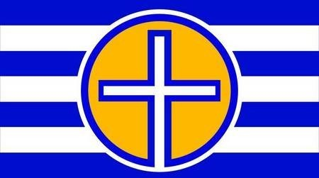 Proposed Flag for Kythera. Proposal 1. Proposal utilising one of (wo)mankind's most ancient, primal and powerful symbols.