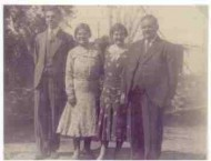 Picture Gallery. Chapt 7. of KEVIN CORK's Ph.D thesis. Photograph 2. Nicholas, Alexandra, (nee, Andronicus - later Mrs Jack Feros, Barraba), Mrs Steve Christian (nee, Helen Andronicos),  and John Andronicos.. c. 1930's.